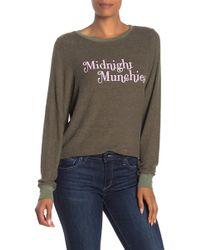 Wildfox Midnight Munchies Baggy Beach Sweatshirt - Multicolour