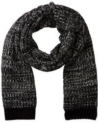 Bickley + Mitchell Marled Knit Scarf - Black