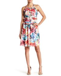 Chelsea and Walker Ruffle Print Silk Dress - Multicolor