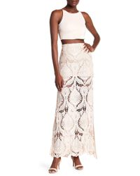 Sky - Nilsa Crochet Lace Maxi Skirt - Lyst