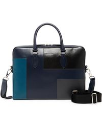Burberry - Barrow Leather Patchwork Briefcase - Lyst