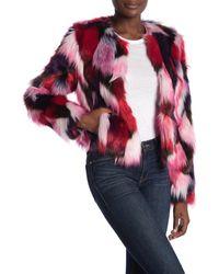 UGG Lorren Patchwork Faux Fur Jacket - Multicolour