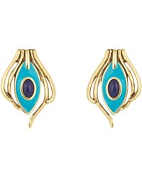 House of Harlow 1960 - Turquoise Risha Clip On Earrings - Lyst