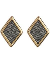 Trina Turk - Two-tone Diamond Shape Stud Earrings - Lyst