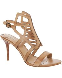 Leon Max Wanessa Cutout Heeled Sandal - Brown