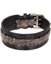 John Varvatos | 20-25mm Flannel Fabric Cuff Bracelet | Lyst