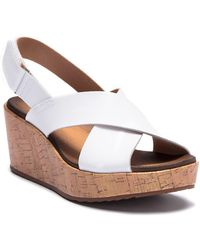 Clarks - Stasha Hale Leather Wedge Sandal - Wide Width Available - Lyst