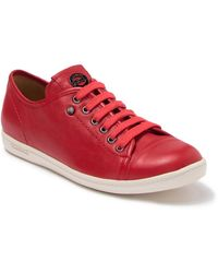 Longchamp Le Pliage Cuir Leather Sneaker - Red
