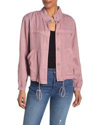 Sanctuary Drawstring Hem Jacket (regular & Petite) - Pink