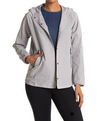 Mountain Hardwear Railay Button Front Hooded Jacket - Grey