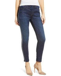 Caslon (r) Sierra High Waist Ankle Skinny Jeans (francis) - Blue