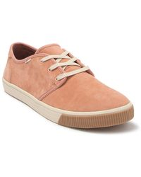 TOMS Carlo Nubuck Leather Sneaker - Pink