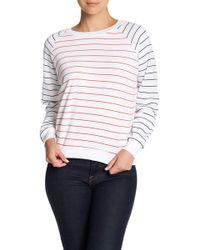 Wildfox Simple Stripe Raglan Sweatshirt - White