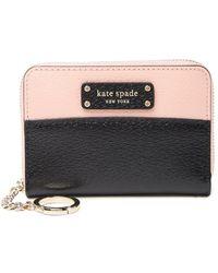 Kate Spade Greer Leather Two Tone Zip Around Wallet - Pink