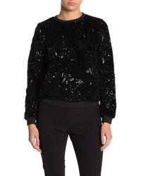 Endless Rose Floral Sequin Sweater - Black