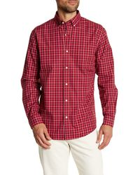 Lands' End | Plaid Tailored Fit Shirt | Lyst