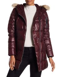 Andrew Marc - Lexi Asymmetrical Genuine Coyote Fur Trim Quilted Jacket - Lyst