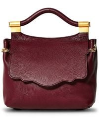 Thale Blanc Pebbled Leather Audrey Backpack - Purple