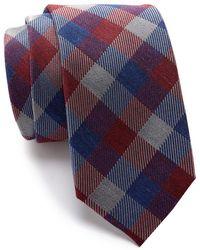 Ben Sherman Leonard Check Tie - Blue