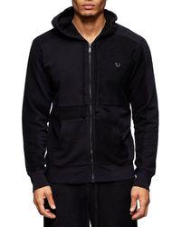True Religion Raw Edge Zip Jacket - Black