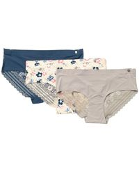 Lucky Brand Sand Dollar Micro Hipster - Pack Of 3 - Natural