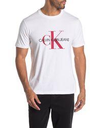 Calvin Klein - Unboxed Monogram Logo Ss Tee - Lyst