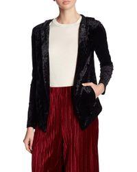 BCBGeneration | Hooded Velvet Tuxedo Blazer | Lyst