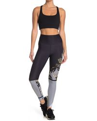 WEAR IT TO HEART Printed High Waist Leggings - Multicolor