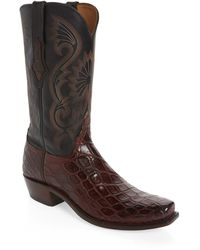 Lucchese Rio Cowboy Boot - Brown