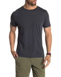 Theory Gaskell Short Sleeve Henley - Blue