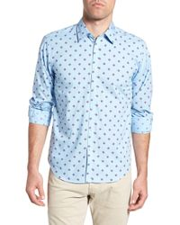 Jeremy Argyle Nyc - Slim Fit Turtle Print Sport Shirt - Lyst