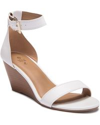 Call It Spring Abaussa Open Toe Wedge Sandal - White