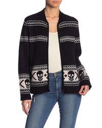 Skull Cashmere Matilda Skull Wool & Cashmere Zip Sweater - Black