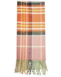 TOPSHOP Toffee Lightweight Check Scarf - Multicolor