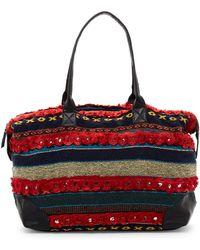 Raj - Mirrored Carpet Genuine Leather Duffle Bag - Lyst