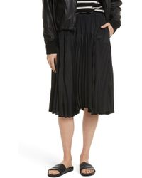Vince - Pleated Skirt - Lyst