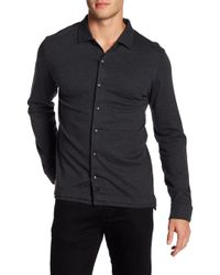 David Donahue - Knit Regular Fit Shirt - Lyst