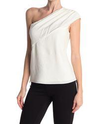Elie Tahari Bela One-shoulder Blouse - White