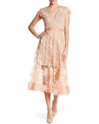 Dress the Population - Juliana Two-piece Dress - Lyst
