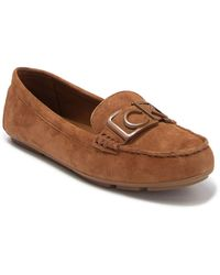 Calvin Klein Ladeca Suede Loafer - Brown