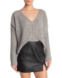 Free People - Moonbeam V-neck Sweater - Lyst