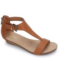 Kenneth Cole Reaction - Great Gal T-strap Sandal - Lyst
