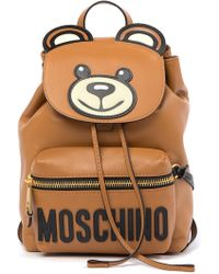 Moschino - Teddy Bear Faux Leather Backpack - Lyst