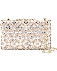 Sondra Roberts - Floral Crystal Embellished Clutch - Lyst