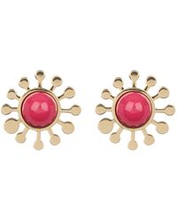Trina Turk - Resin Accent Floral Stud Earrings - Lyst