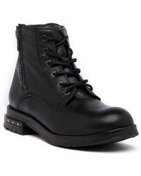 Khrio | Zip Leather Combat Boot | Lyst