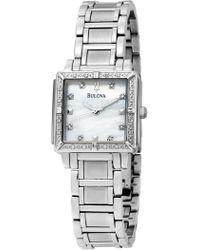 Bulova - Women's Diamond Marker Quartz Bracelet Watch, 25mm - Lyst