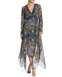 BCBGMAXAZRIA Wrap Dress - Blue