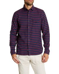 Lands' End | Striped Tailored Fit Shirt | Lyst
