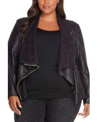 REBEL WILSON X ANGELS - Asymmetrical Faux Leather Jacket (plus Size) - Lyst